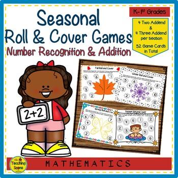 Roll & Cover Seasonal Math Games