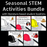 Seasonal STEM Activities Bundle w/Student Booklets, Project Based Learning PBL