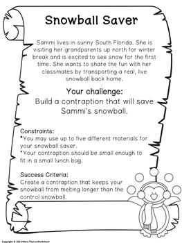 STEM for Winter: Snowball Saver