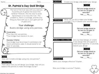 STEM Challenge St. Patrick's Day STEM: Coin Bridge