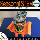 Thanksgiving STEM: Build a Table