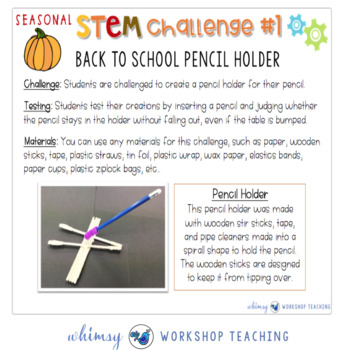 Seasonal STEM with Partner Plays - FALL STEM