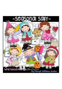 Seasonal Sally Clipart Collection