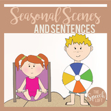 Seasonal Scenes & Sentences| SUMMER| Language & Narrative Prompts |