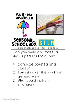 Seasonal School Box STEM Spring Pack