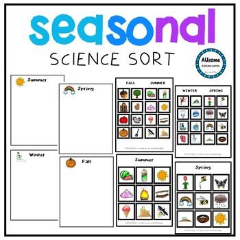 Seasonal Science Sort (sped/autism/elementary)