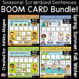 Seasonal Scrambled Sentences BOOM CARD Bundle - Digital Learning
