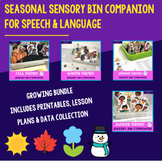 Seasonal Sensory Bin Companion For Speech & Language BUNDLE