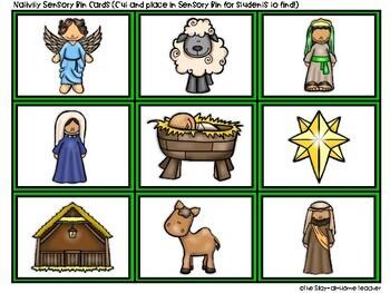 Sensory Bins and Puzzles - Nativity