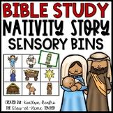 Nativity Sensory Bins and Puzzles