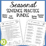 Seasonal Bundle for Simple, Compound & Complex Sentences