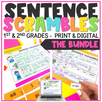 Seasonal Sentence Scrambles Bundle