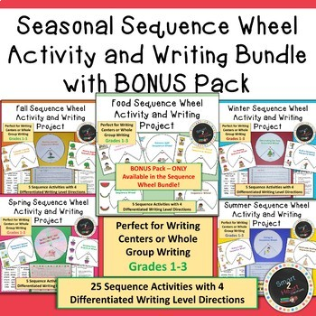 Seasonal Sequence Wheel Activity and Writing Bundle