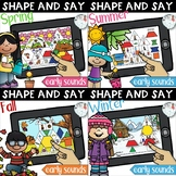 Seasonal Shape and Say: Articulation Boom Card Distance Le