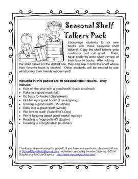Seasonal Shelf Talkers