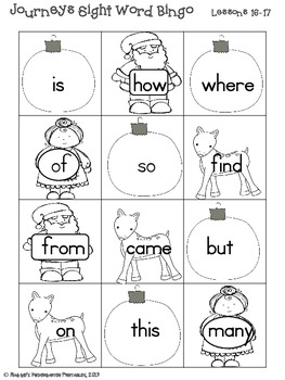 Seasonal Sight Word Activities