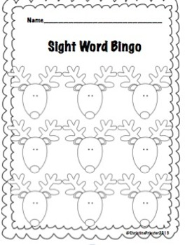 Seasonal Sight Word Bingo