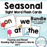 Seasonal Sight Word Flashcards Bundle (Fountas & Pinnell list 1)
