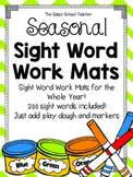 Seasonal Sight Word Work Mats