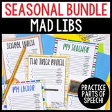 Seasonal Silly Stories Activities to Practice Parts of Speech