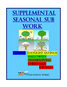 Sub Work:  Supplemental Seasonal Variety Pack Set 1