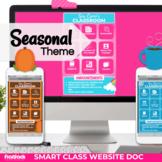 Seasonal Smart Class Website Doc (Google Slides Style!)