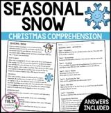 Seasonal Snow Christmas Comprehension - Reading Strategy Worksheet