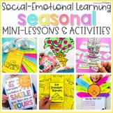 Seasonal Social Emotional Learning Bundle   BTS, Fall, Win