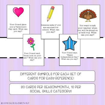 Social Skills Seasonal Task Cards!