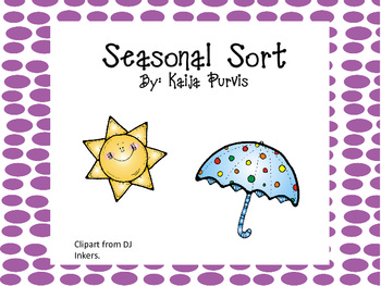 Seasonal Sort: Pictures throughout the Year.