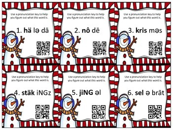 Seasonal Sound Spelling SCOOT (QR Codes Included)