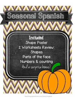 Seasonal Spanish OCTOBER edition