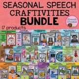 Seasonal Speech Therapy Craft BUNDLE {articulation language craftivities}