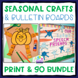 Seasonal Speech Therapy Crafts and Bulletin Board Sets