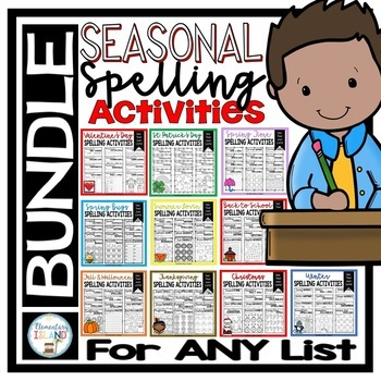Seasonal Spelling Activities to use with ANY list