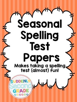 Seasonal Spelling Test Papers