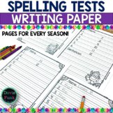 Seasonal Spelling Test Templates Papers - 10, 12, 15 and 20 words
