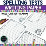 Spelling Test Templates - Seasonal Papers