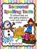 Seasonal Spelling Test Templates