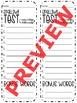 Seasonal Spelling Tests