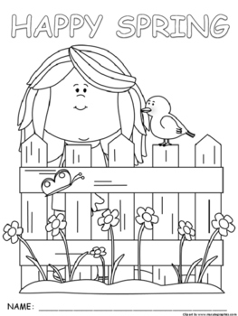 Seasonal Spring Synonym and If...then coloring pictures