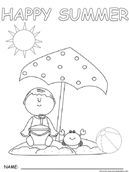 Seasonal Summer Synonym and If...then coloring pictures