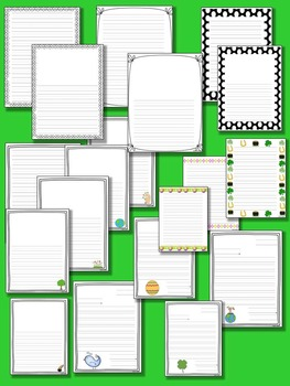 Seasonal Spring Lined Writing Paper