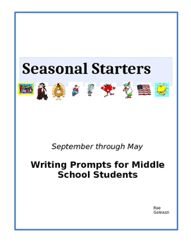 Seasonal Starters: Writing Prompts for Middle School