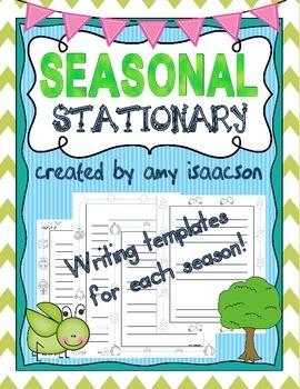 Seasonal Stationary, Writing Paper
