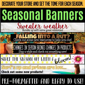 Seasonal Store Banners