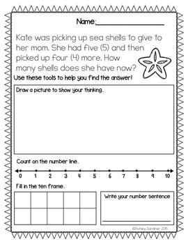 Kindergarten Story Problems {24 Story Problems with Addition and Subtraction}