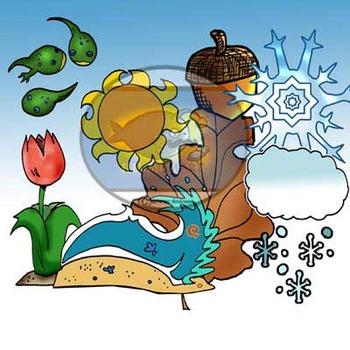 Seasonal Stuff Clip-Art (16 pc. BW and Color!)