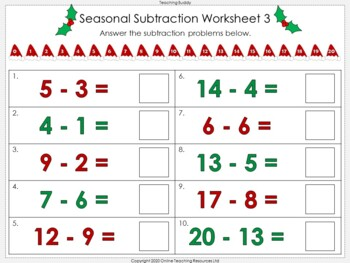 Seasonal Subtraction