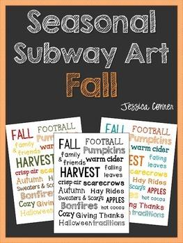 Seasonal Subway Art: Fall